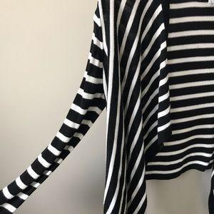 DKNY black  & white striped cardigan